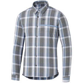 Shimano Transit Check Longsleeve Button Up Shirt Men aegean blue